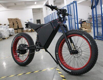 fat bike with motorcycle seat